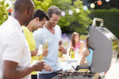 Men Cooking On Barbecue — Stock Photo