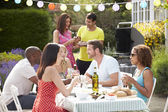 Friends Having Outdoor Barbeque — Foto de Stock