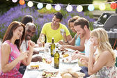Friends Having Outdoor Barbeque — Stock Photo