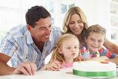 Family Celebrating Daughters Birthday — Stock Photo