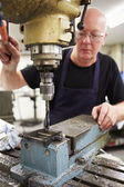 Engineer Operating Milling Machine — Stock Photo
