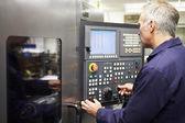 Engineer Operating Computer — Stock Photo