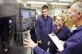 Engineer Teaching Apprentices — Стоковое фото