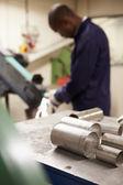 Engineer Using Grinding Machine — Stock Photo