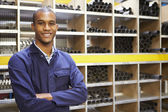 Engineering Worker In Store Room — Stock Photo