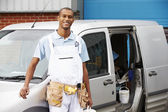 Decorator Standing Next To Van — Stock Photo