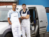 Decorators Standing Next To Van — Stock Photo