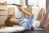 Woman Taking A Break — Stock Photo