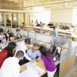 Interior Of Busy Modern Open Plan Office — Stock Photo #48459217
