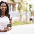 Portrait Of Female University Student Outdoors On Campus — Stock Photo #48459635