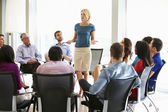 Businesswoman Addressing Meeting — Stock Photo