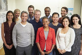 Portrait Of Staff In Modern Multi-Ethnic Office — Stock Photo