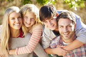 Portrait Of Hispanic Family In Countryside — Stockfoto