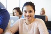 Portrait Of Female University Student In Classroom — Stock Photo