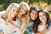 Portrait Of Two Mothers With Daughters — Stock Photo