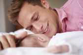 Father Playing With Baby Girl — Stock Photo