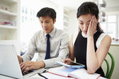 Worried Asian Couple — Stock Photo