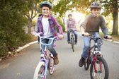 Family On Cycle Ride In Countryside — Stock Photo
