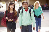 Students Walking To High School — Stock Photo