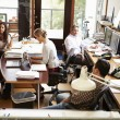 Interior Of Busy Architect's Office With Staff Working — Stock Photo #48460273