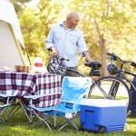 Two Senior Men Riding Bikes — Stock Photo #48460293