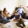 Teenagers Relaxing In Bedroom — Stock Photo #48460531