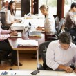 Interior Of Busy Architect's Office With Staff Working — Stock Photo #48460861