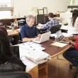 Team Of Architects Working At Desks In Office — Stock Photo #48461013