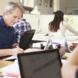 Team Of Architects Working At Desks In Office — Stock Photo #48461273
