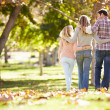 Rear View Of Family Walking Through Autumn Woodland — Stock Photo #48461731