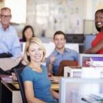 Portrait Of Businesspeople In Modern Open Plan Office — Stock Photo #48462247