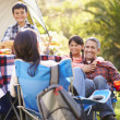 Family Enjoying Camping Holiday In Countryside — Stock Photo #48462289