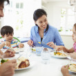 Asian Family Eating Meal Together — Stock Photo #48462571