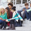 High School Students Sitting — Stock Photo #48462651