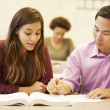 Female High School Student With Teacher — Stock Photo #48463105