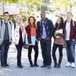 Portrait Of University Students Outdoors On Campus — Stock Photo #48463669