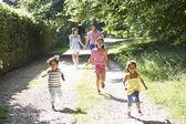 Asian Family Enjoying Walk — Stock Photo
