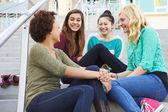 Female High School Students — Stockfoto