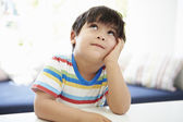 Asian Boy Thinking — Stock Photo