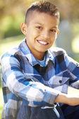 Portrait Of Hispanic Boy In Countryside — Stock Photo