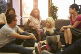 Group Of University Students Relaxing In Common Room — Stock Photo