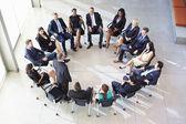 Businessman Addressing Multi-Cultural Office Staff Meeting — Zdjęcie stockowe