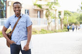 Portrait Of Male University Student Outdoors On Campus — Stock Photo