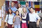 High School Students And Teacher — Photo