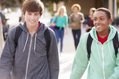 Students Walking To High School — Stockfoto