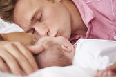 Father Kissing Baby Girl — Stock Photo