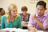 High School Teacher Helping Student — Foto Stock