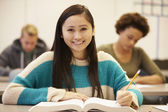 Female High School Student Studying — Stock Photo