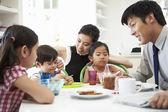 Asian Family Having Breakfast — Stock Photo