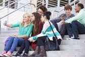 High School Students Taking Selfie — Stock Photo